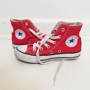 CONVERSE CHUCK TAYLOR UNISEX RED HIGH TOPS